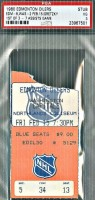1980 NHL Capitals at Oilers Wayne Gretzky 7 assists ticket stub