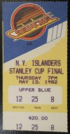 1982 NHL Stanley Cup Final Ticket Stub