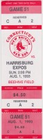 1993 New Britain Red Sox ticket stub vs Harrisburg Expos