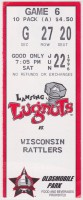 1996 Wisconsin Rattlers at Lansing Lugnuts