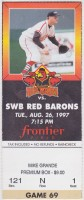 1997 MiLB Scranton Wilkes Barre Red Barons at Rochester Red Wings