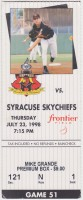 1998 MiLB International League Syracuse Skychiefs at Rochester Red Wings