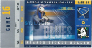 2000 NHL Mighty Ducks at Blues ticket stub 3