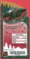 2004 NHL All Star Game Minnesota Ticket Stub