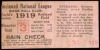 1919 World Series Game 6 Ticket Stub White Sox at Reds