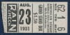 1931 Chicago White Sox vs New York Yankees Ticket Stub