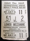 1972 AHL Hershey Bears ticket stub vs Baltimore