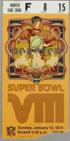 1974 Super Bowl Dolphins vs Vikings ticket stub