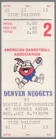 1975 ABA NBA Preseason Nuggets vs Supersonics ticket stub