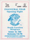 1993 ECHL Charlotte Checkers ticket stub vs South Carolina