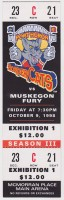 1996 UHL Muskegon Fury at Port Huron Border Cats ticket stub