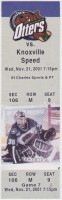2001 UHL Knoxville Speed at Missouri River Otters ticket stub