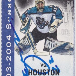2004 Cleveland Barons ticket stub vs Houston Aeros for sale