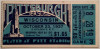 1937 NCAAF Wisconsin at Pittsburgh ticket stub