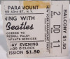 1964 Beatles Paramount Theater New York ticket stub