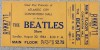 1964 Beatles ticket stub Atlantic City Convention Hall
