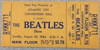 1964 Beatles ticket stub Atlantic City
