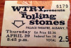 1965 Rolling Stones Albany Palace Theatre Ticket Stub