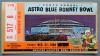 1968 Astro Blue Bonnet Bowl Oklahoma vs SMU Ticket Stub