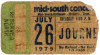 1979 Journey Mid South Coliseum Memphis ticket stub