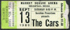 1980 The Cars Indianapolis ticket stub