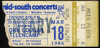 1986 John Cougar Mellencamp Mid South Coliseum Memphis ticket stub