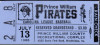 1986 Prince William Pirates ticket stub