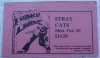 1988 Stray Cats New Haven Toad's Place ticket stub