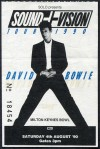1990 David Bowie Milton Keynes ticket stub