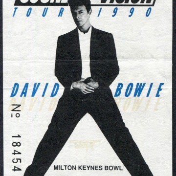 1990 David Bowie Milton Keynes ticket stub
