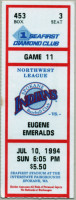 1994 MiLB Northwest League Eugene Emeralds at Spokane Indians ticket stub