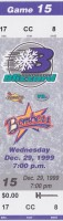 1999 ECHL Dayton Bombers at Huntington Blizzard ticket stub