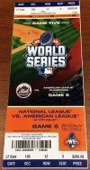 2015 World Series Game 5 ticket Royals at Mets