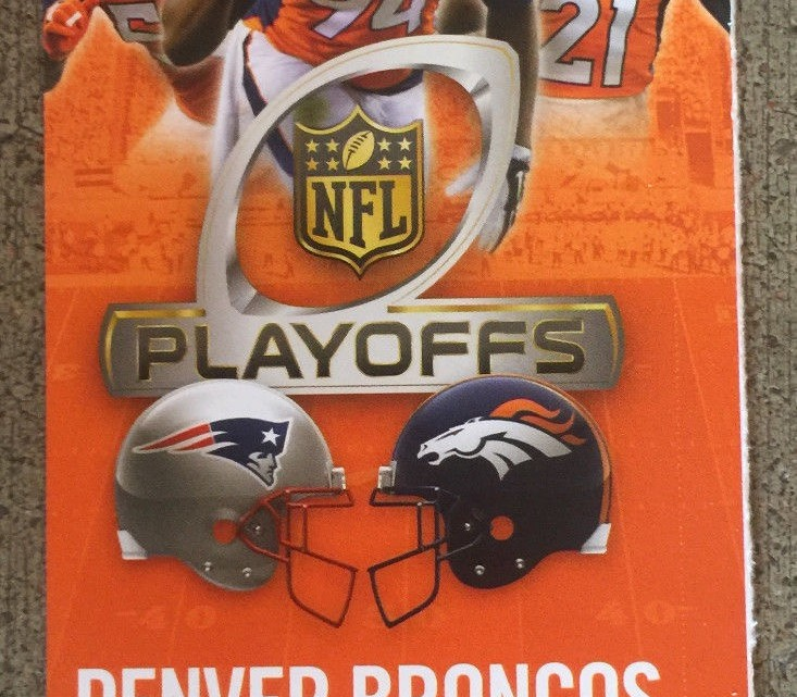 2016 AFC Championship Game Patriots at Broncos ticket stub