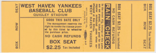 West Haven Yankees ticket stub