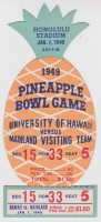 1949 Pineapple Bowl ticket stub