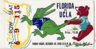 1958 NCAAF Florida at UCLA ticket stub 33