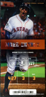 2016 MLB Royals at Astros Opening Day ticket stub