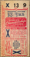 1944 World Series Game 6 Ticket Stub Browns at Cardinals