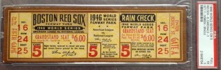 1946 World Series Game 5 Cardinals at Red Sox Full ticket