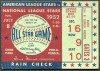 1952 MLB All Star Game Shibe Park ticket stub