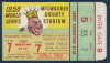 1958 World Series Game 7 Yankees vs Braves Ticket Stub
