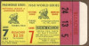 1960 World Series Game 7 Yankees vs Pirates ticket stub