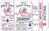 1962 World Series Game 4 ticket stub Giants vs Yankees