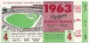 1963 World Series Game 4 ticket stub Yankees vs Dodgers