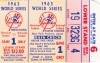 1963 World Series Game 1 ticket stub Dodgers at Yankees