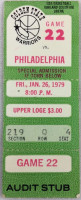 1979 NBA 76ers at Warriors ticket stub