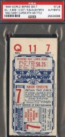 1946 World Series Game 7 Cardinals at Red Sox Ticket Stub