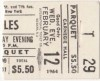 1964 Beatles Carnegie Hall Ticket Stub