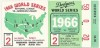1966 World Series Game 2 ticket stub Orioles at Dodgers ticket stub